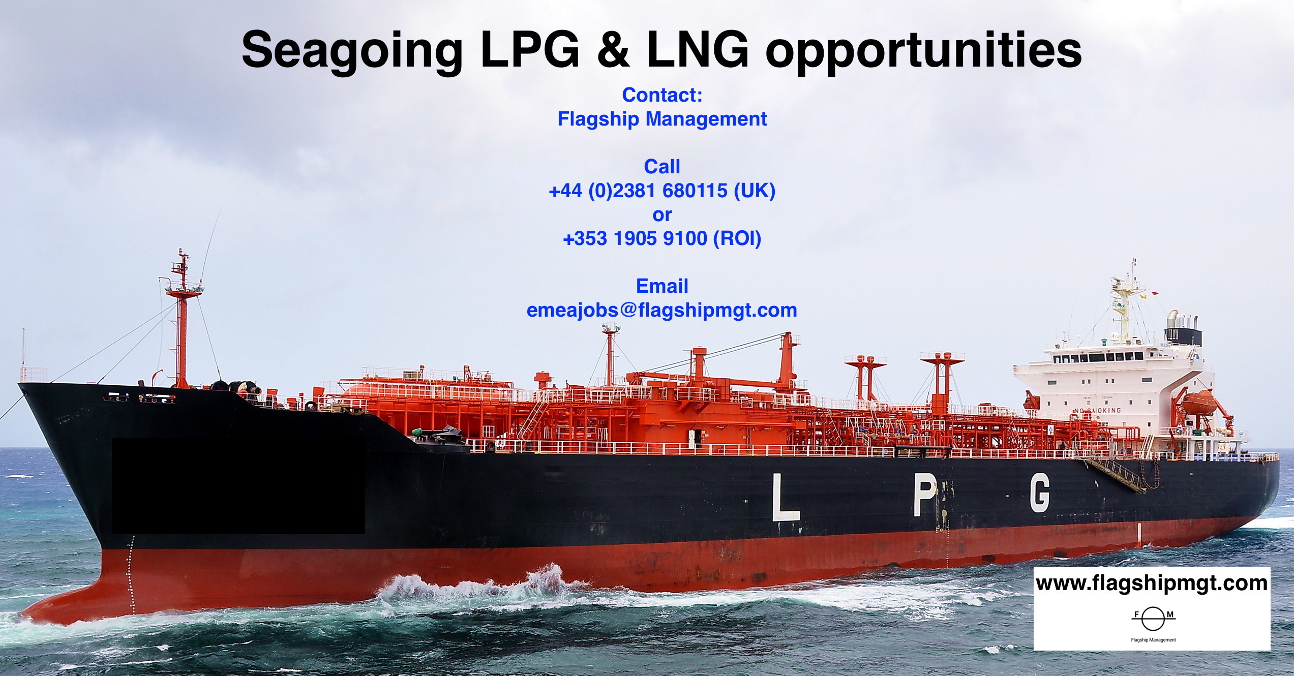 Immediate sea going opportunities LNG & LPG - Maritime Recruiter